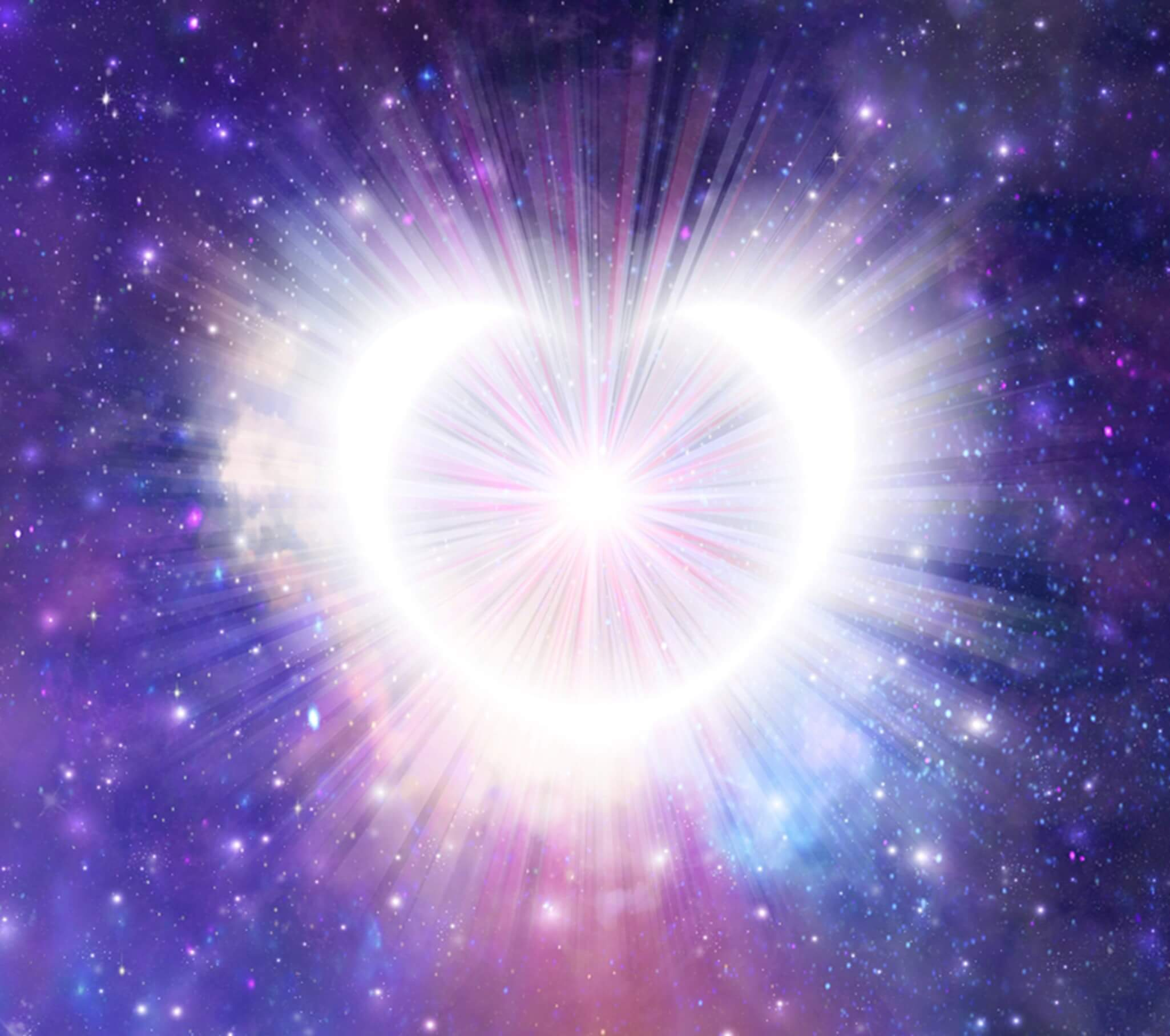 The heart shown as a galaxy in space